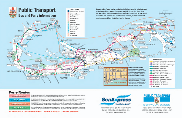 Bermuda Transportation - Maps and Transportation Schedules